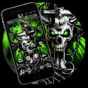 Gothic Metal Graffiti Skull Theme