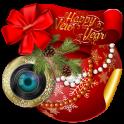 New Year Photo Stickers