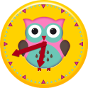 Cute Owl Clock Widget