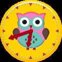 Cute Owl Clock Widget