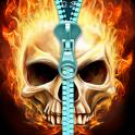 Skull lock screen.