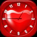 Heart Analog Clock Widget