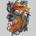 Tattoo Color By Number Draw Book Page Pixel Art