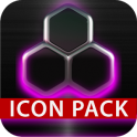 GLOW PINK icon pack HD 3D