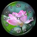 Lotus Clock Live Wallpaper