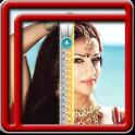 Zipper Lock Screen Hindi Girl