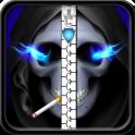 Skulls Zipper Lock Screen
