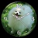 Puppies Clock Live Wallpaper