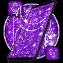 Purple Glitter Moon Theme