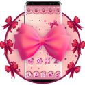 Pink Cute Love Bow Theme
