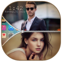 Dual Photo Zip Lock Screen