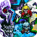 skull graffiti wallpaper theme