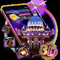 3D Vatican Night Glass Tech Theme