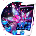 Glowing Purple Butterfly Theme