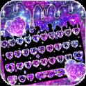 Galaxy Liquid Droplet Keyboard Theme