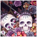 Colorful Flower Skull Fancy Theme