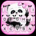 Pink Girly Panda Keyboard Theme