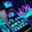 Fluorescent Neon Lotus Magic Theme