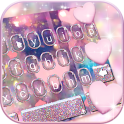Rose Gold Heart Keyboard Theme
