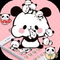 Pink Cartoon Cute Panda Theme