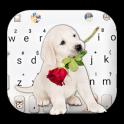 Puppy Love Rose Keyboard Theme