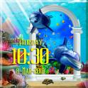 Aquarium digital clock live wallpaper