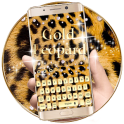 Gold Leopard Print Keyboard Theme