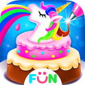 Cooking Unicorn Rainbow Cake- Food Game for girl