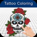Libro de colorear del tatuaje - Páginas para