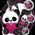 Cute Cartoon Pink Heart Panda Theme