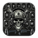Horror Guns Skull Warrior Keyboard