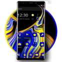 Blue Yellow Liquid Theme for Galaxy Note 9