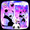 Cute Panda Galaxy Theme