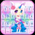 Cuteness Unicorn Fairy Keyboard Theme