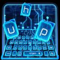 Blue Electric Circuit Keyboard Theme