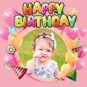 Birthday Photo Editor Greeting Frame