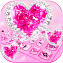 Sparkling Diamond Love Keyboard Theme