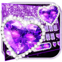 Purple Diamond Glitter Keyboard