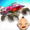 Baby Monster Truck Ice Racing