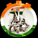 India Flag Clock Wallpaper