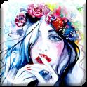 Watercolor Process Girl LWP