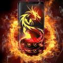 Dragon Theme Cool Fire Tattoo