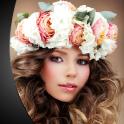 Wedding Flower Crown Hairstyle