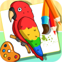 Birds Drawing and Coloring Books
