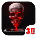 Red Blood Skull 3D Theme