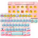 Ice cream Emoji Keyboard Theme