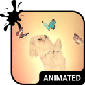 Playful Dog Animated Keyboard + Live Wallpaper