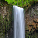flowing waterfall wallpaper