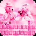 Pink Teddy Bear love keyboard
