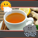 Tea Time Weather And Clock